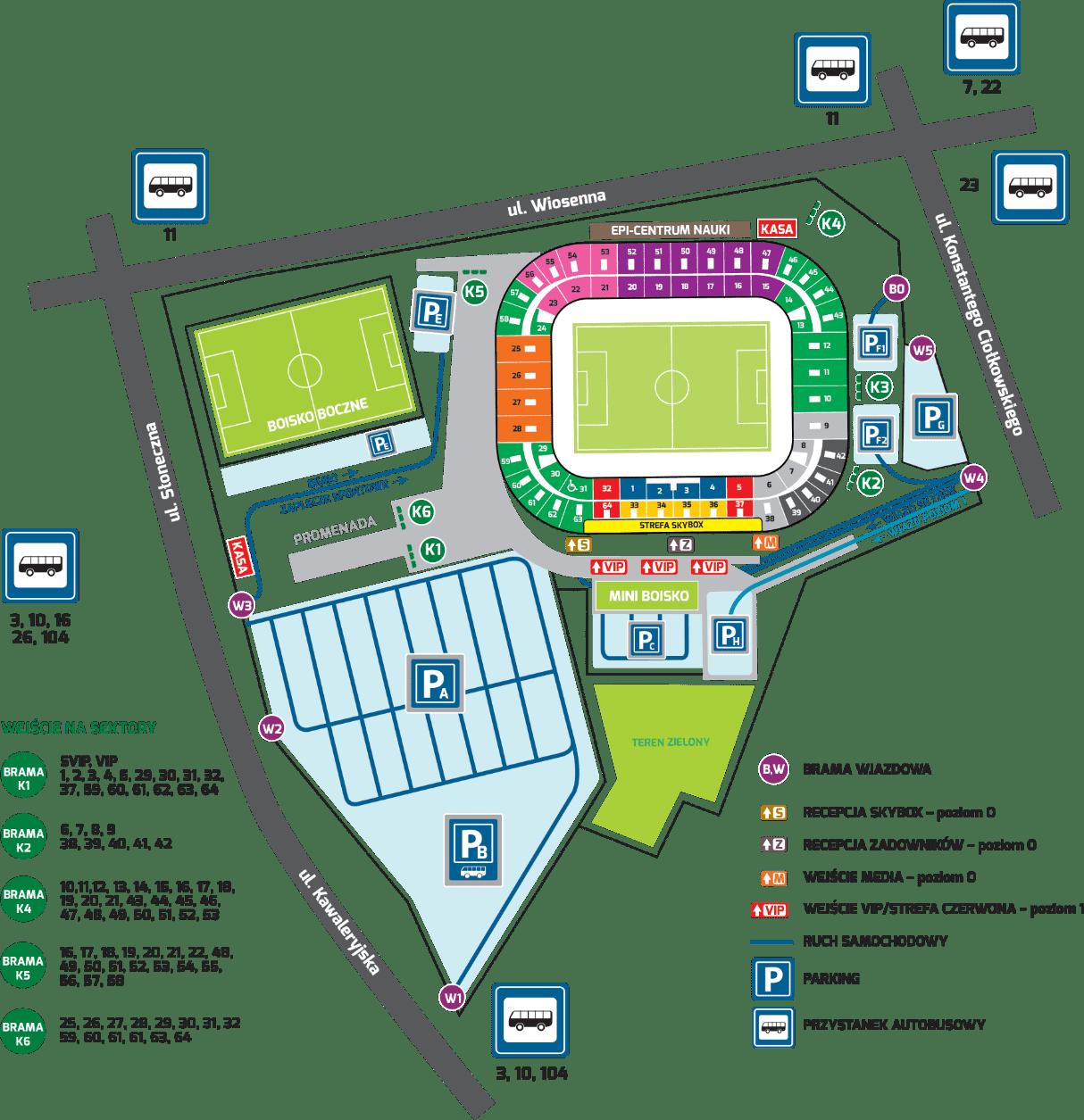 stadion mapa