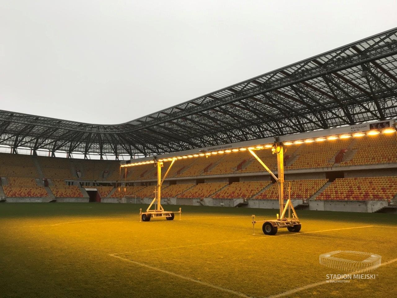 Zielone serce Stadionu Miejskiego w Białymstoku.